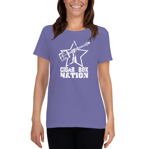 Cigar Box Nation Weathered Logo Women's Short-sleeve T-shirt