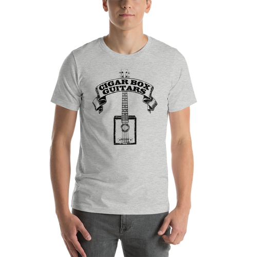 Cigar Box Guitars Premium Unisex T-Shirt (Black Printing on Light Fabric)