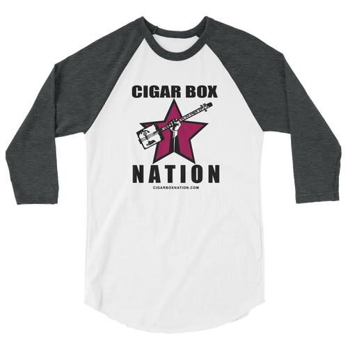 Cigar Box Naztion Color Logo - 3/4-sleeve Raglan Shirt