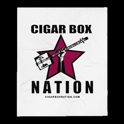 Cigar Box Nation Logo Throw Blanket