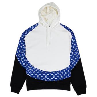 *Rare* Limited Edition Louis Vuitton Monogram Circle Cut Hoodie Blue