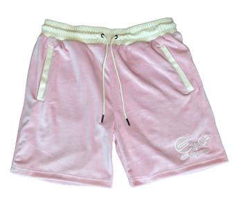 Endless Supply Velour Shorts Pink/Cream