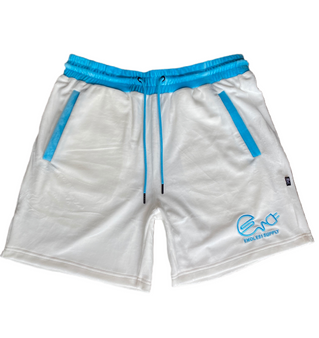 Endless Supply Velour Shorts White/University Blue
