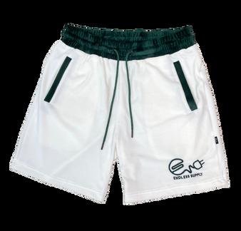 Endless Supply Velour Shorts White/Spartan Green