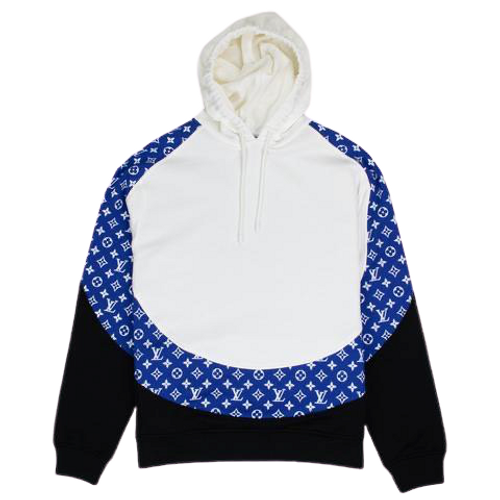 *Rare* Limited Edition Louis Vuitton Monogram Circle Cut Hoodie Blue