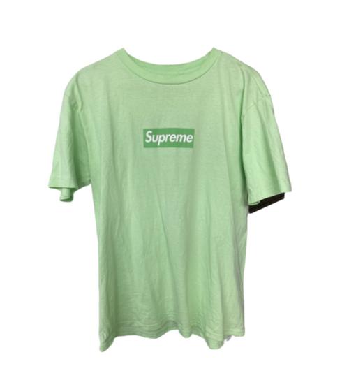 Supreme Pale Lime Box Logo Tee