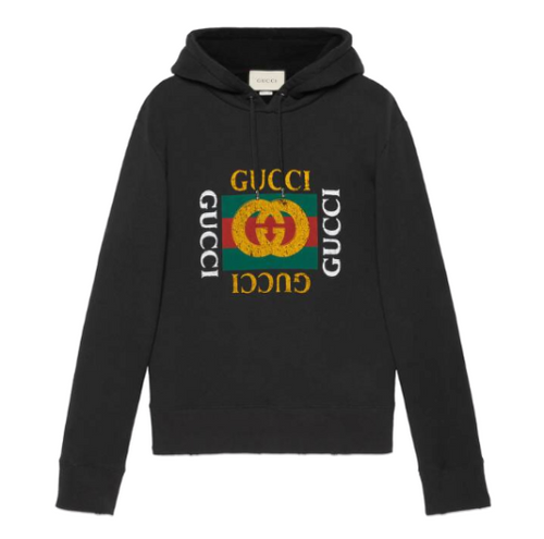 Gucci Oversize Logo Sweatshirt Black