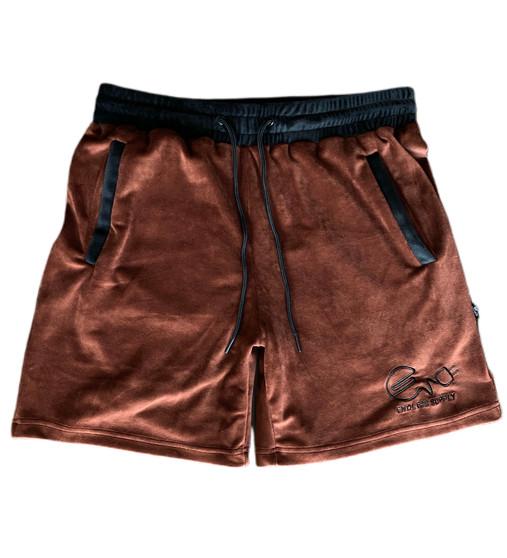 Endless Supply Velour Shorts Mocha/Black