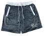Endless Supply Velour Shorts Wolf Grey/White