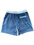 Endless Supply Velour Shorts Ash Blue
