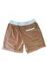 Endless Supply Velour Shorts Latte