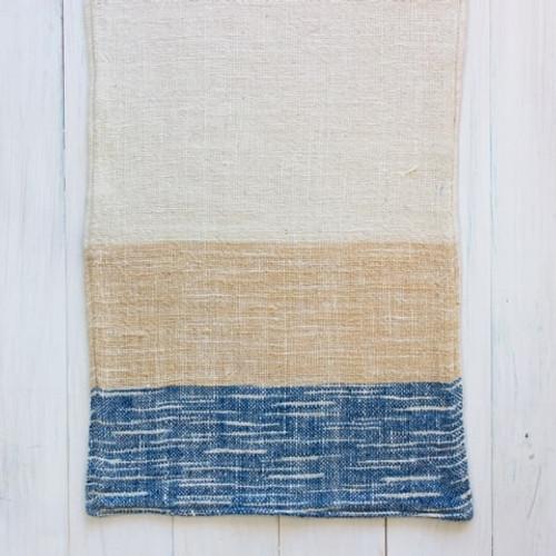 Indigo, Jackfruit, & Natural Cotton Ikat Hand Towel