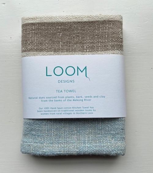 Indigo, Mekong Clay & Natural Cotton Stripe