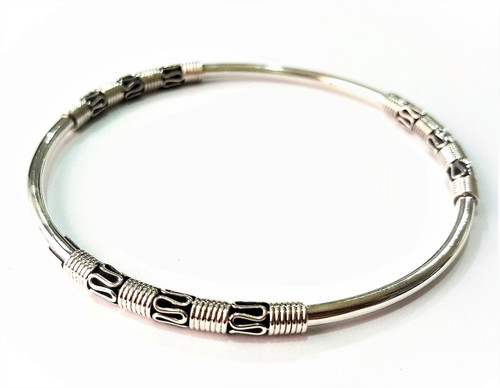 Hand Made Bracelet with 925 Oxidized Sterling Silver