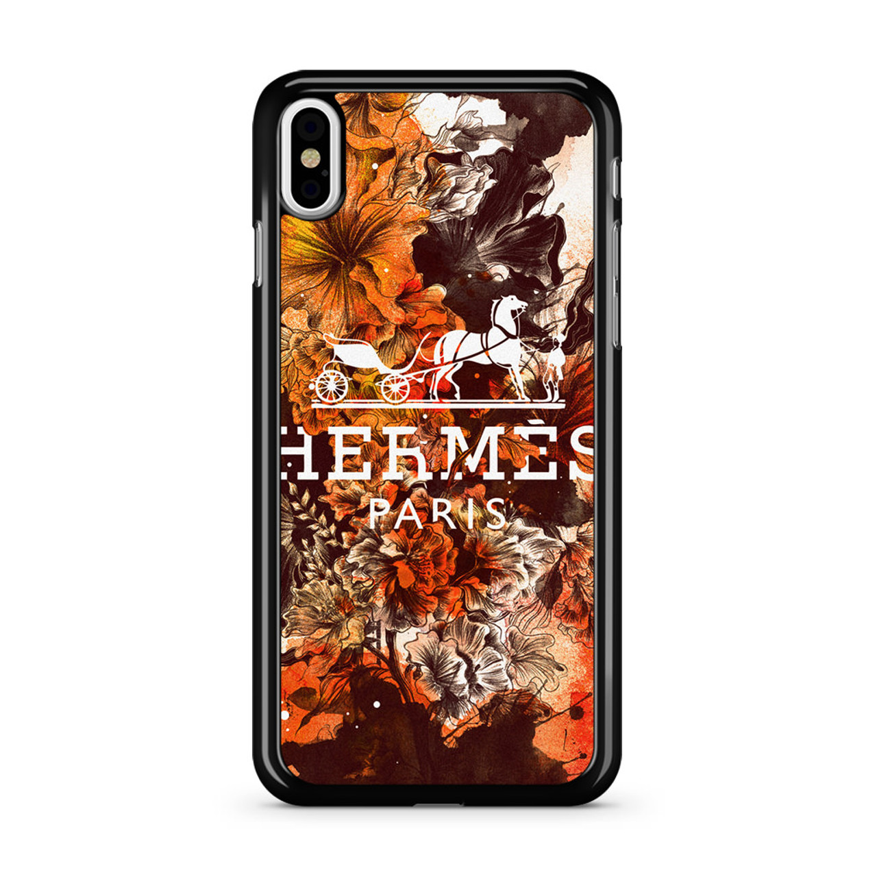 new style 45561 52202 Hermes Full Bloom iPhone XS Case