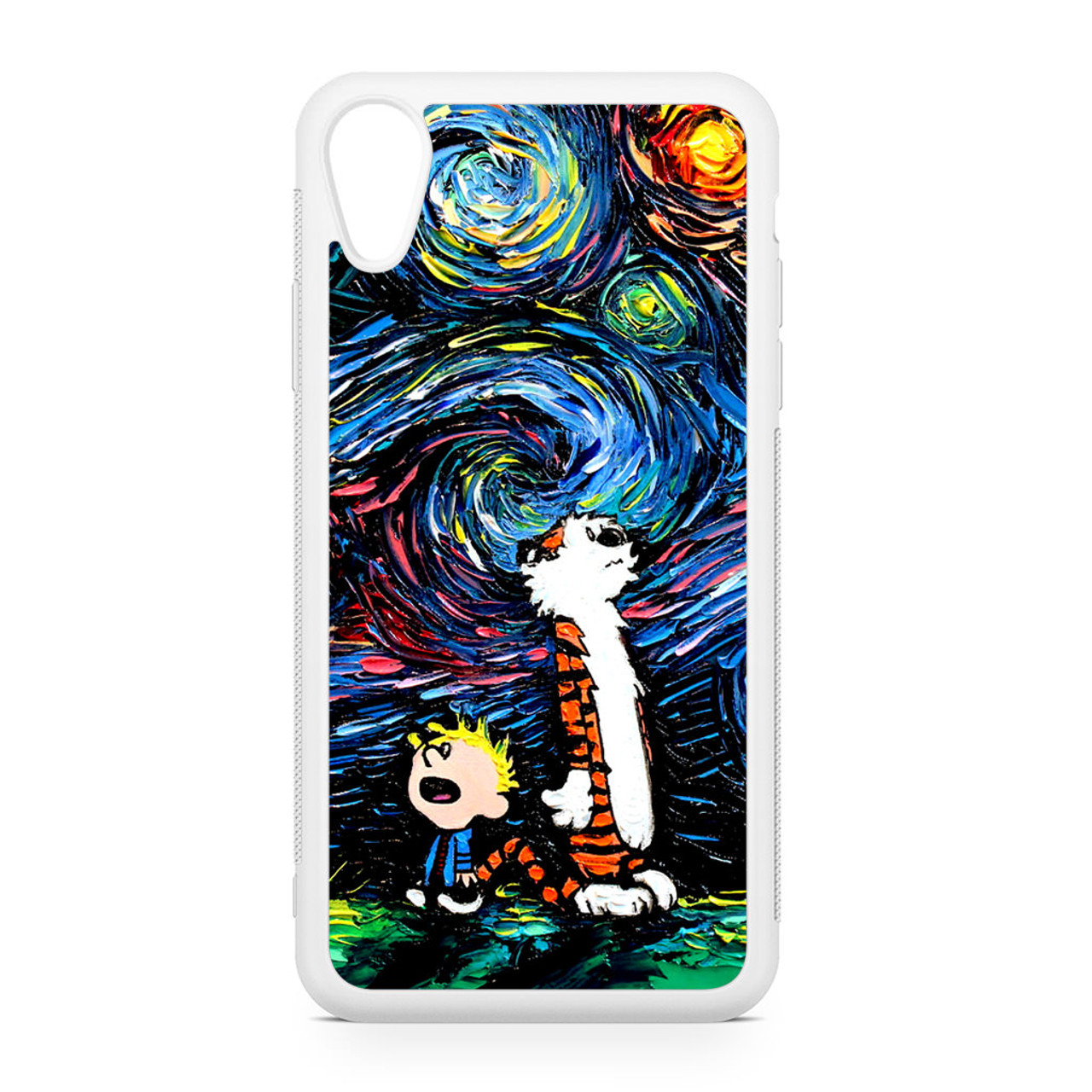 Calvin And Hobbes White 3 iphone case