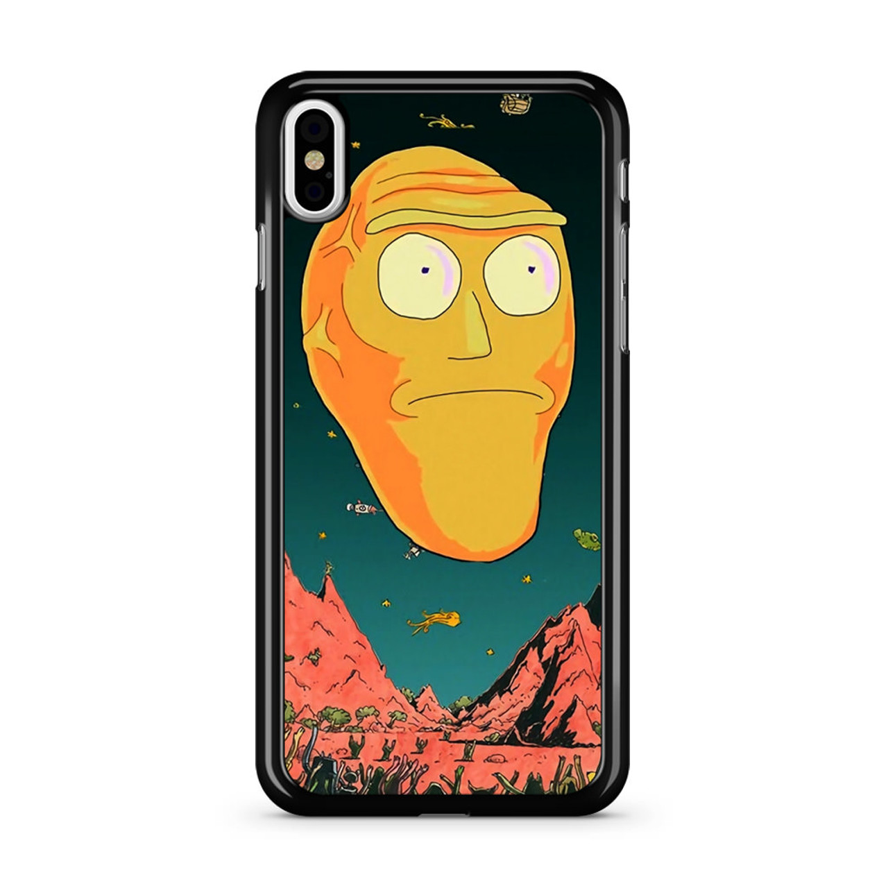 the latest 8f561 44ac0 Rick And Morty Giant Heads iPhone X Case