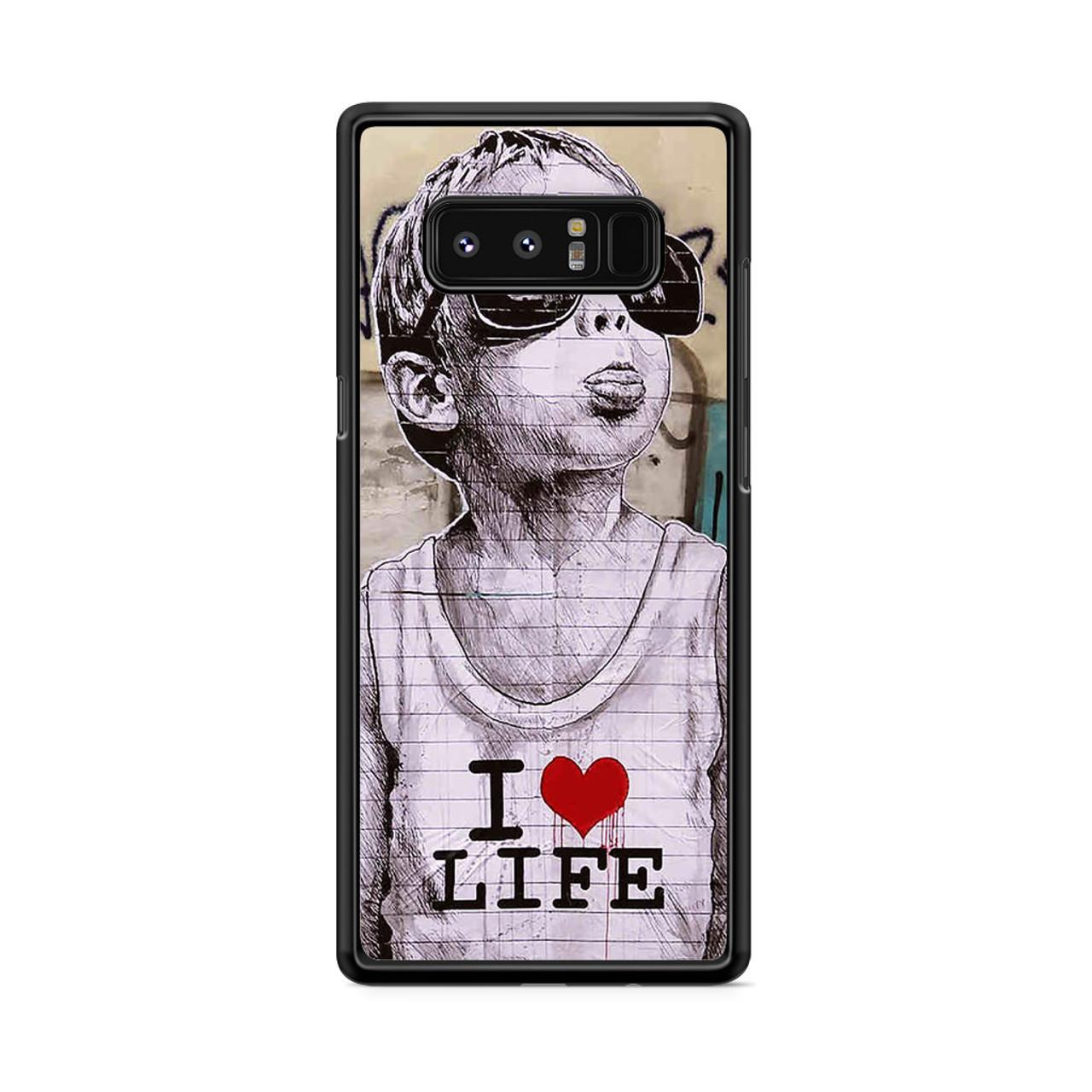 official photos 3d4b3 2e8c0 I Love Life Banksy Samsung Galaxy Note 8 Case