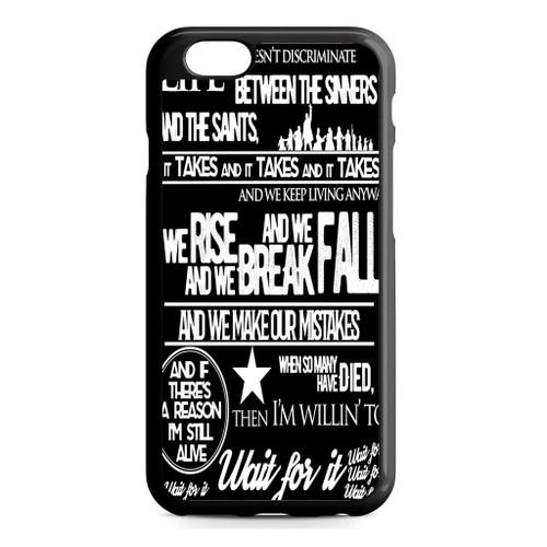 pretty nice 570fa 5963e Hamilton Wait for it Lyrics Quotes iPhone 6/6S Case