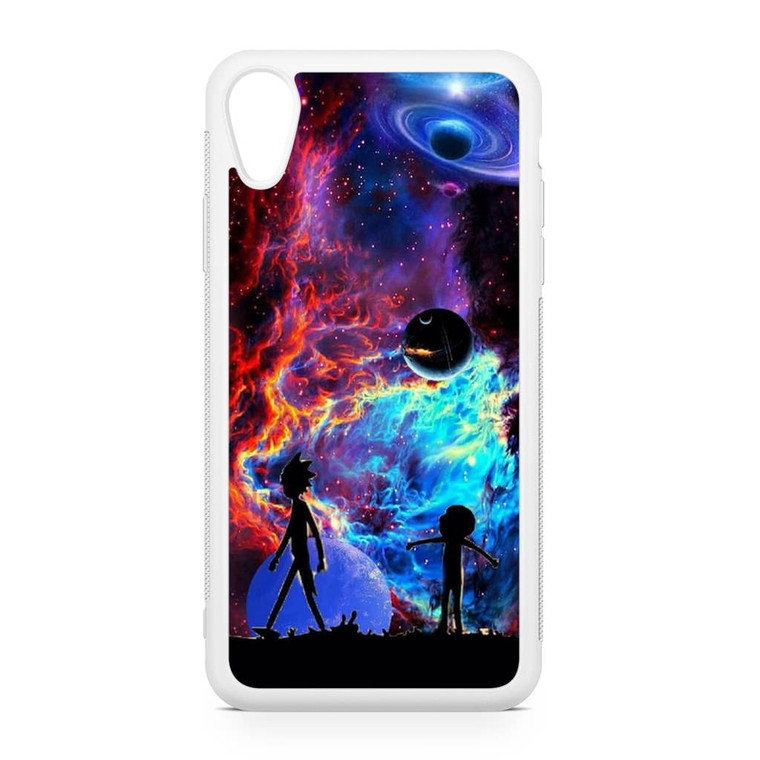 Rick and Morty Flat Galaxy iPhone XR Case