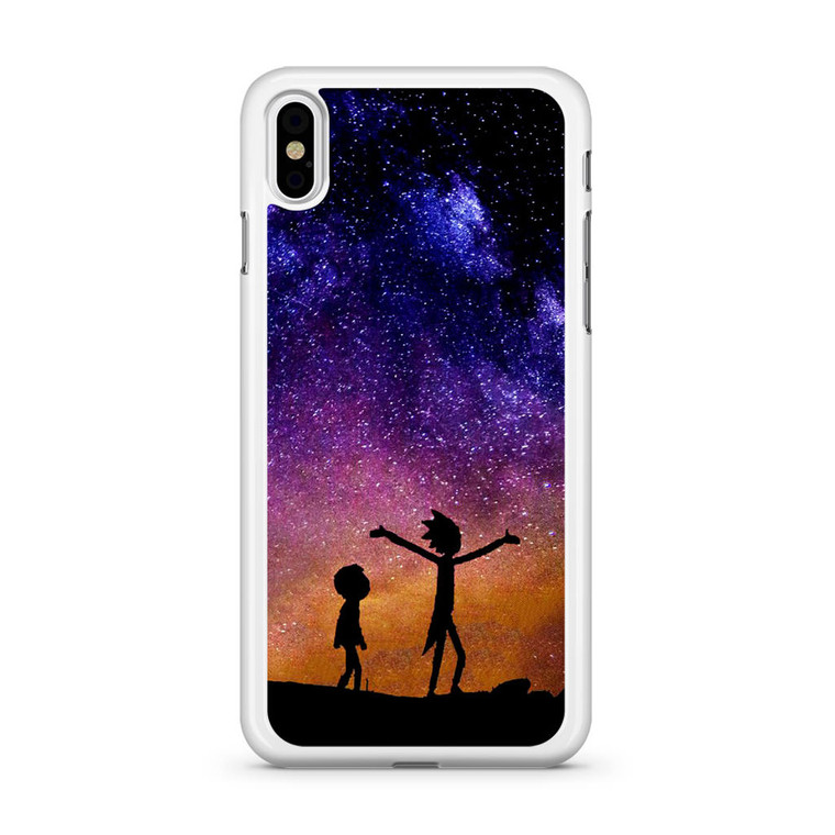 Rick and Morty Space Nebula iPhone X Case