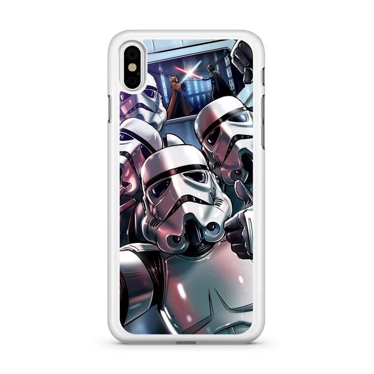 Star Wars Stormtrooper Selfie iPhone X Case