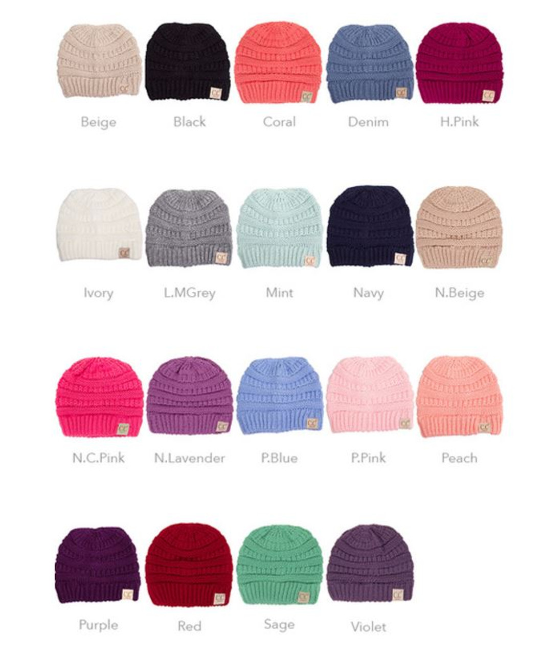 93b8a0f55d0 YJ 847 Kids  CC Beanie - Early Bird Boutique