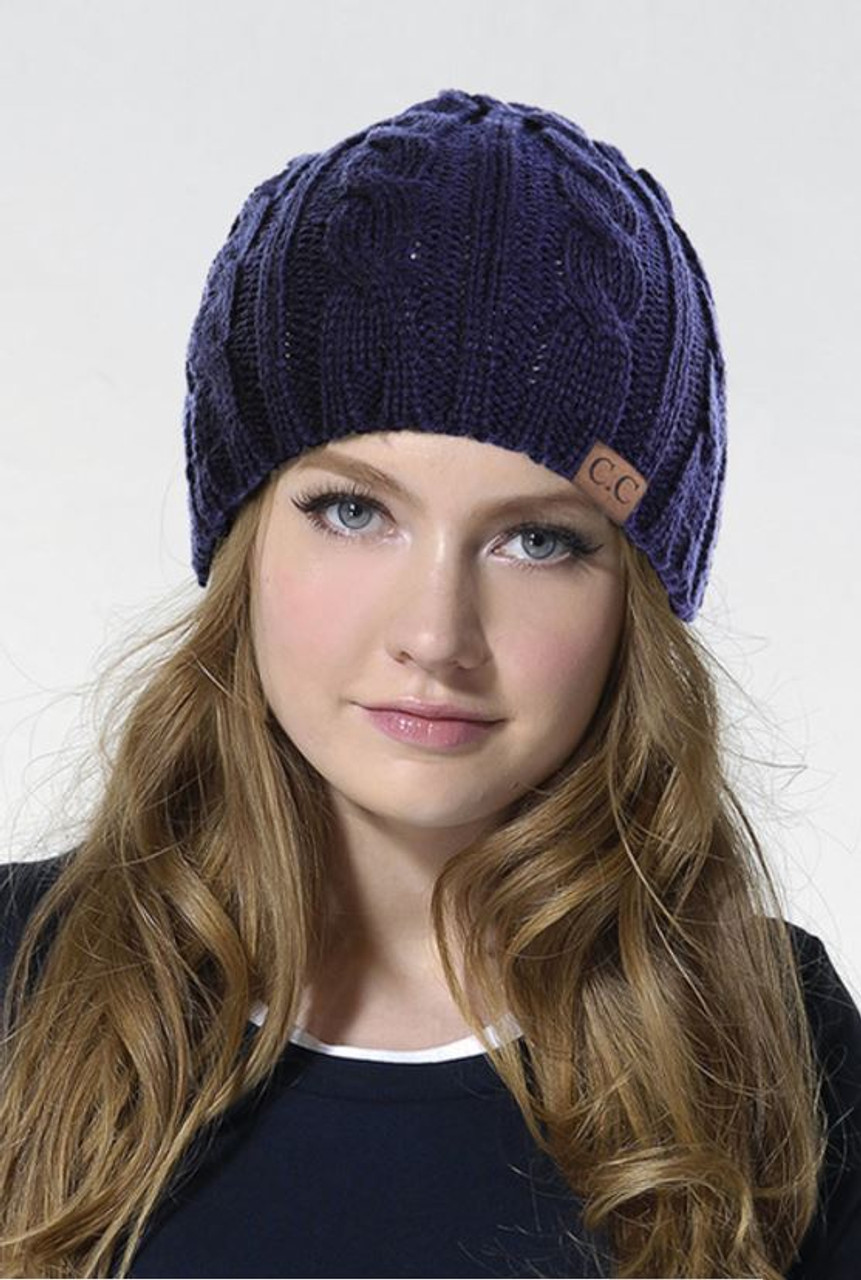 1fe6db467519e7 Ribbed CC Beanie - Early Bird Boutique