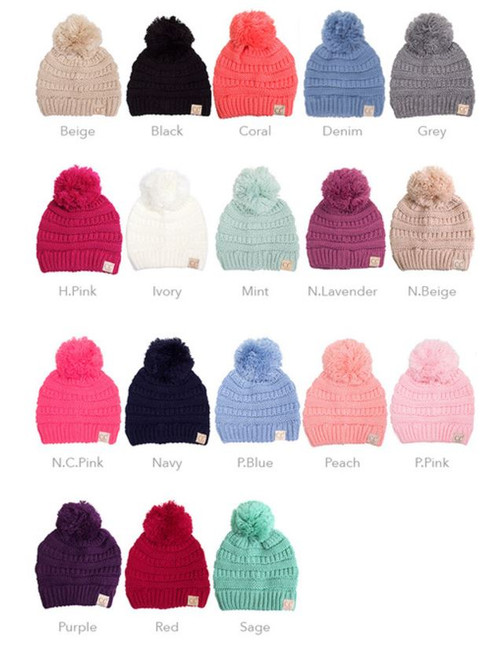 a786eb8db20 YJ 847 Kids  CC Beanie - Early Bird Boutique