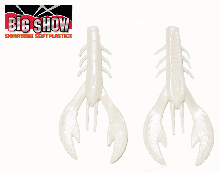 "3.5"" Money Bug Craw - White  (8Pack)"