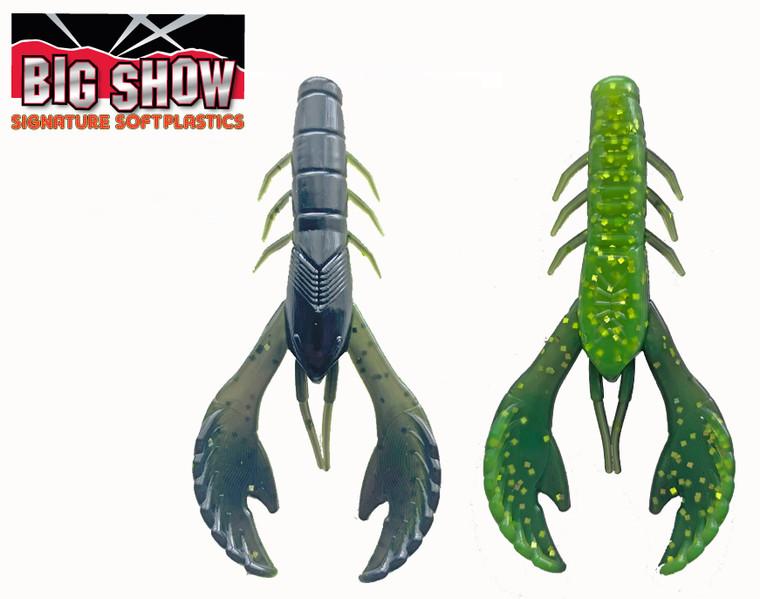 "3.5"" Money Bug Craw - BLK / Chartreuse flk (8Pack)"