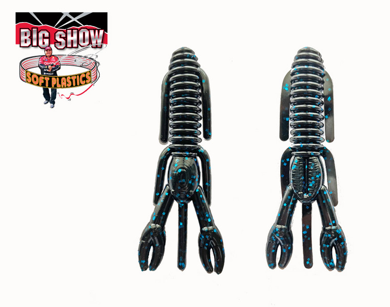 "3.25"" PUNCH BUG - BLK / Blue Fleck - (8 Pack)"