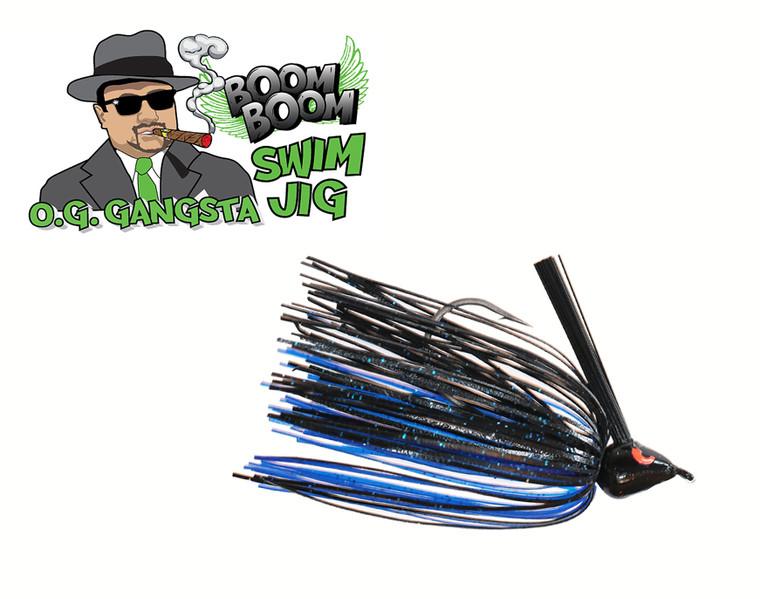 O.G. GANGSTA SWIM JIG - BLACK BLUE   3/8 OZ.