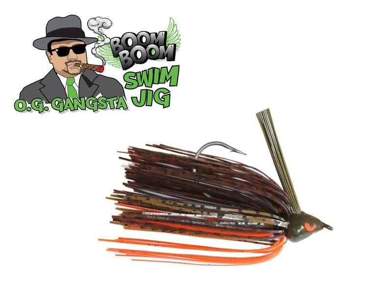 GANGSTA SWIM JIG - GRN PUMPKIN CRAW  3/8 OZ.