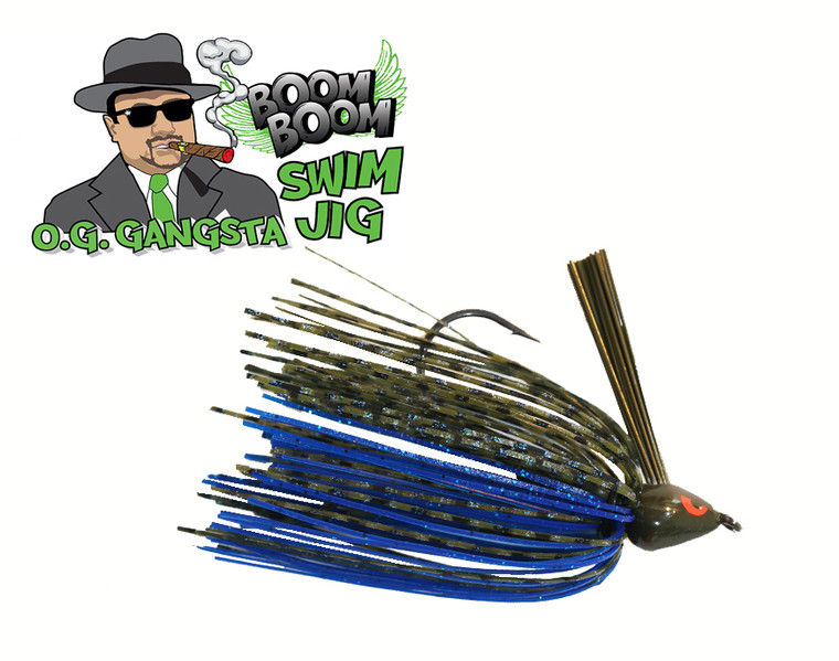 GANGSTA SWIM JIG -  BLUE MELON  3/8 OZ