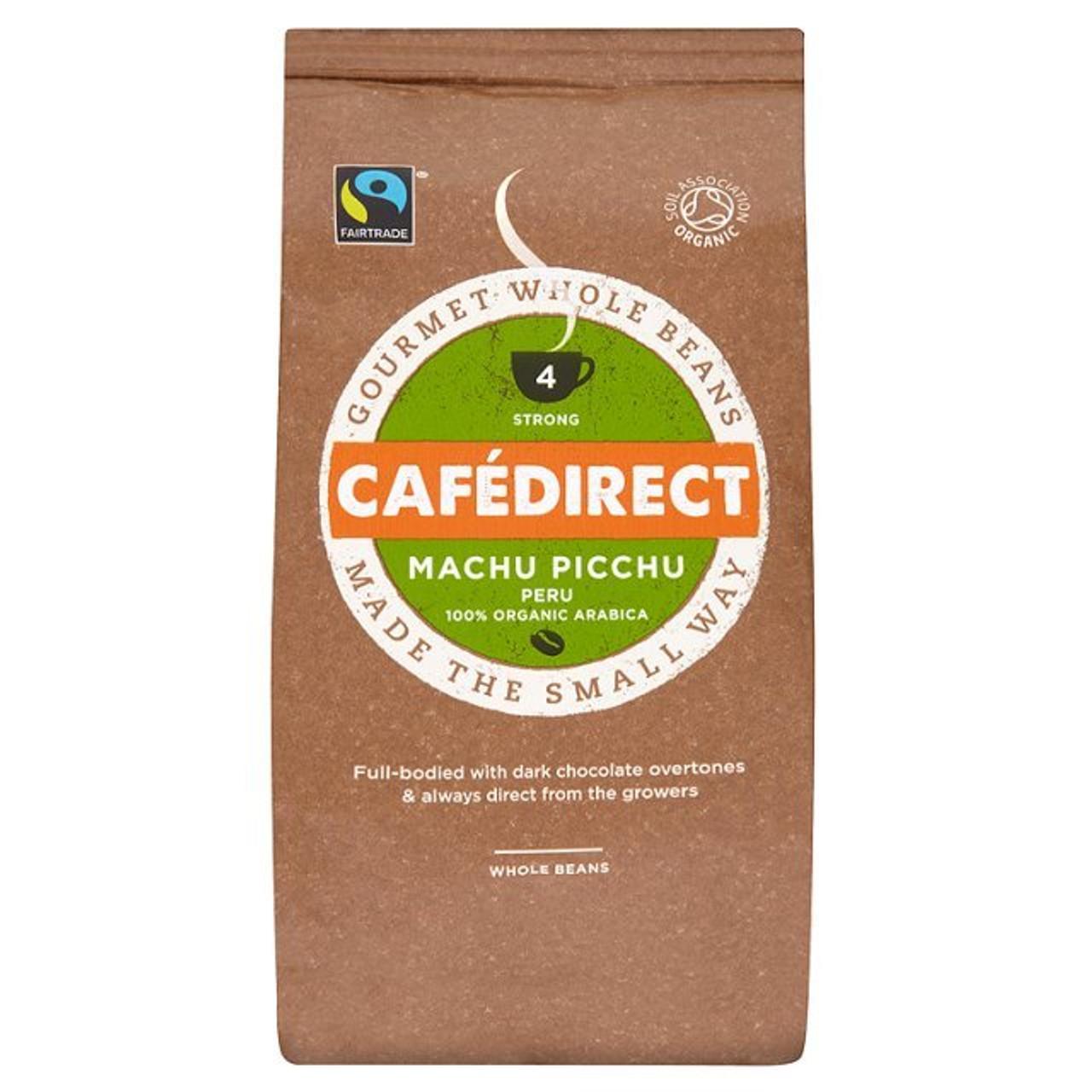Cafedirect Machu Picchu Coffee Beans 227g - Caletoni