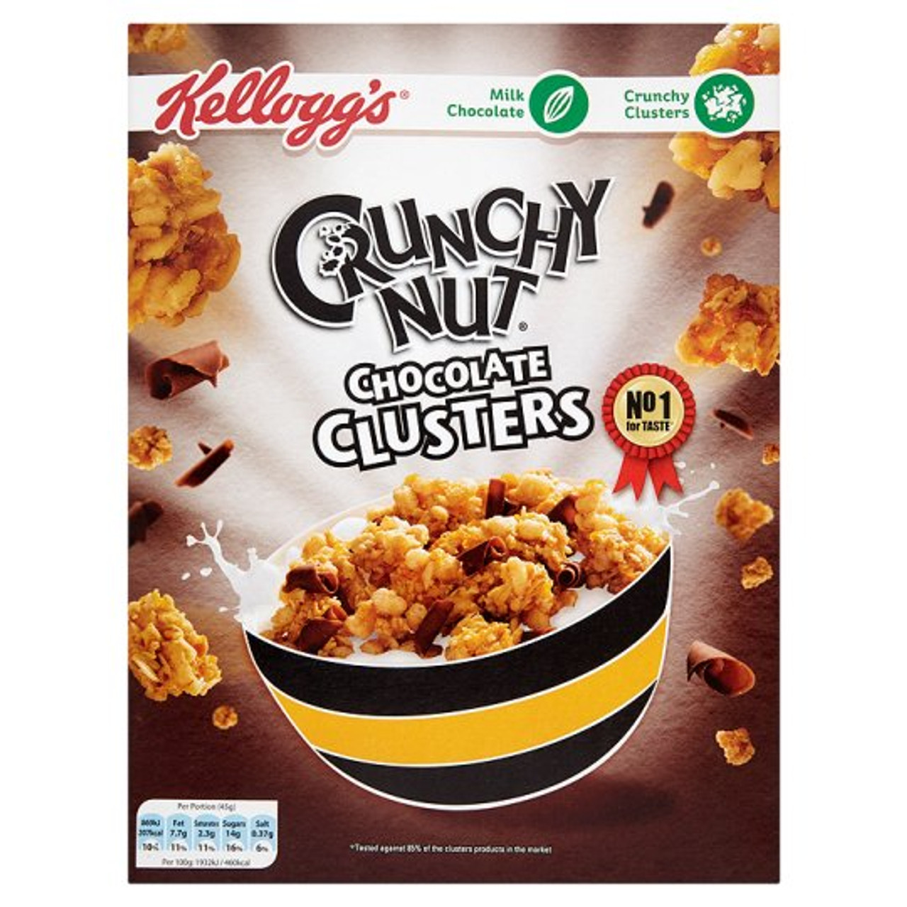 Kelloggs Crunchy Nut Chocolate Clusters Cereal 450G