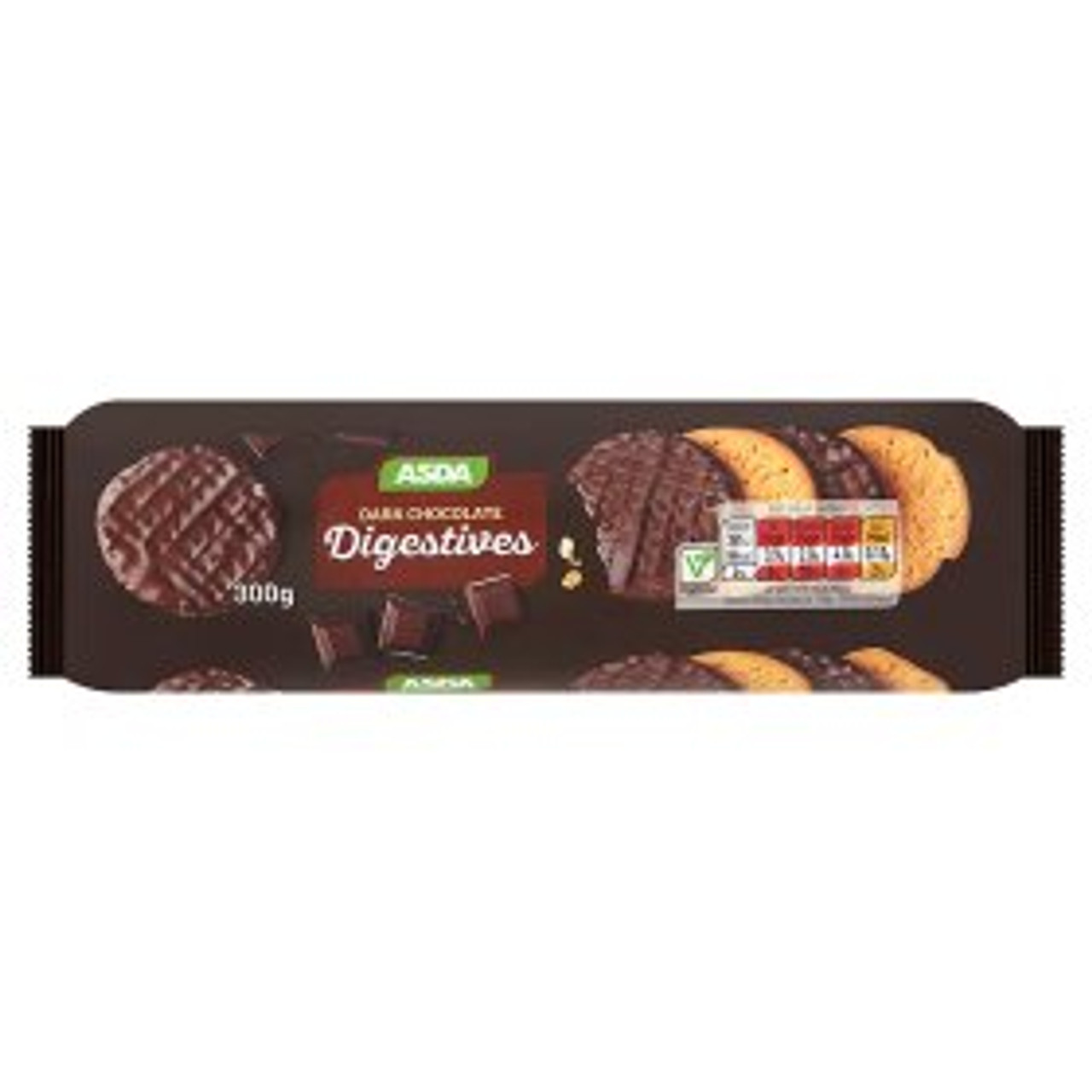 Asda Dark Chocolate Digestives 300g