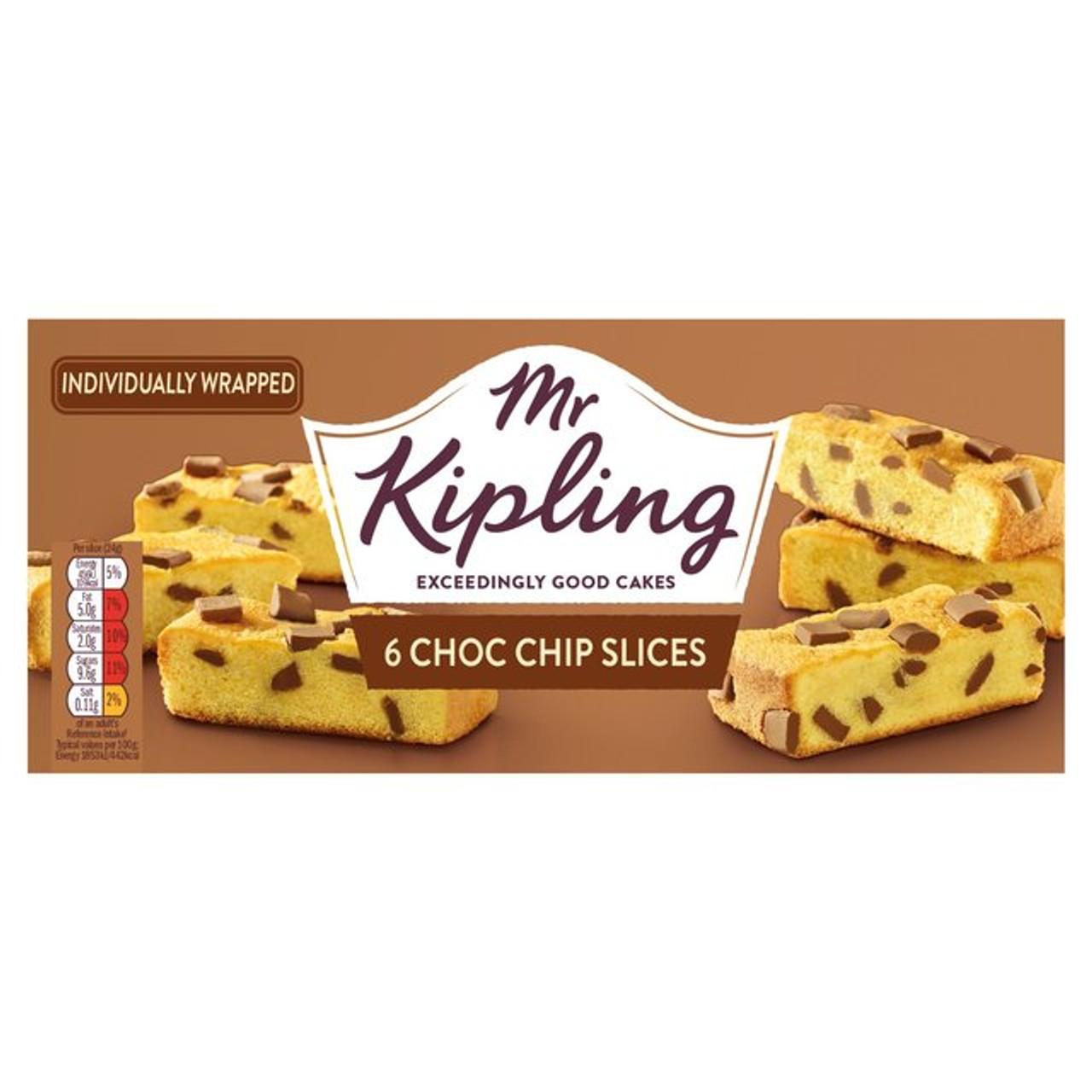 Mr Kipling Choc Chip Cake Slices