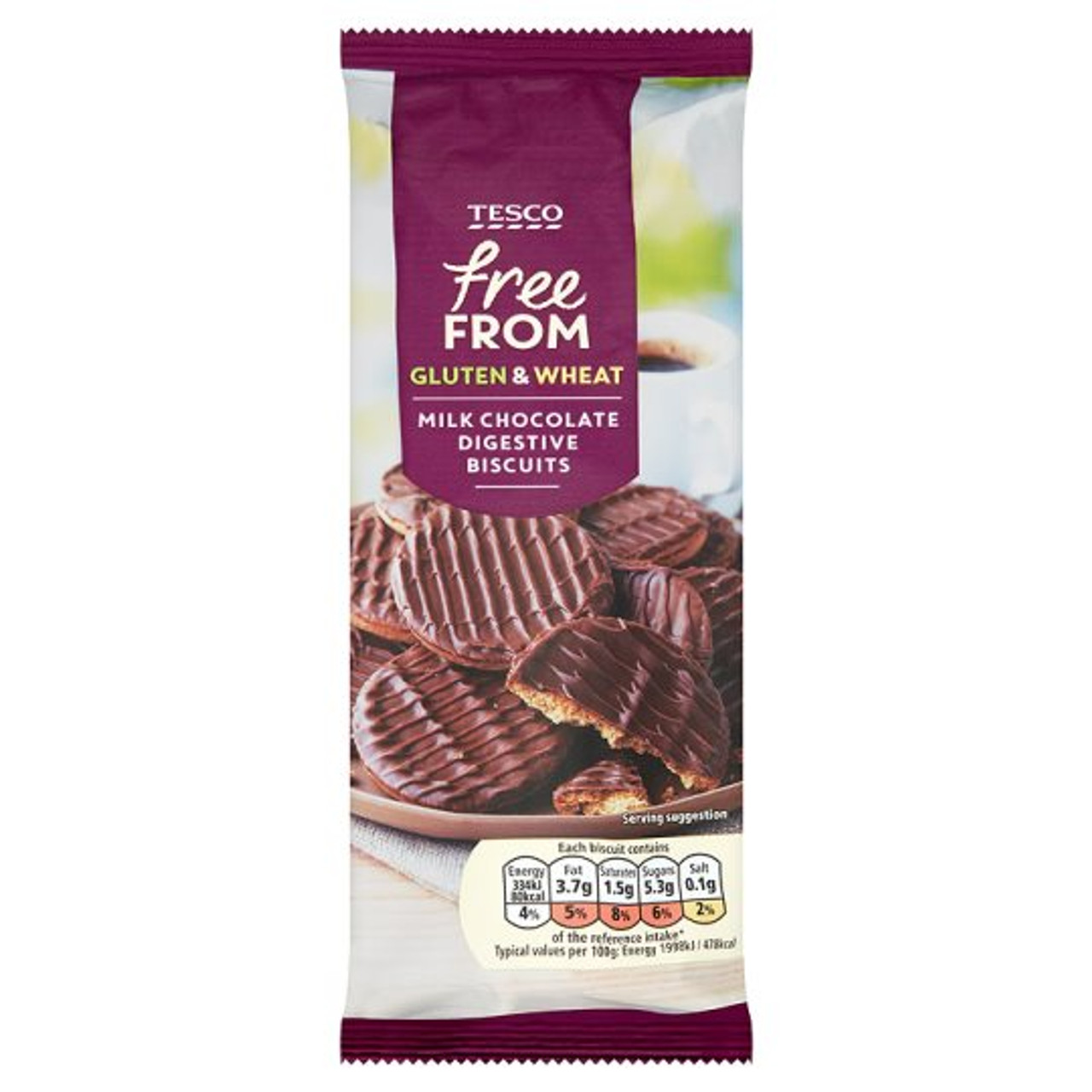 Tesco Free From Chocolate Digestives 200g