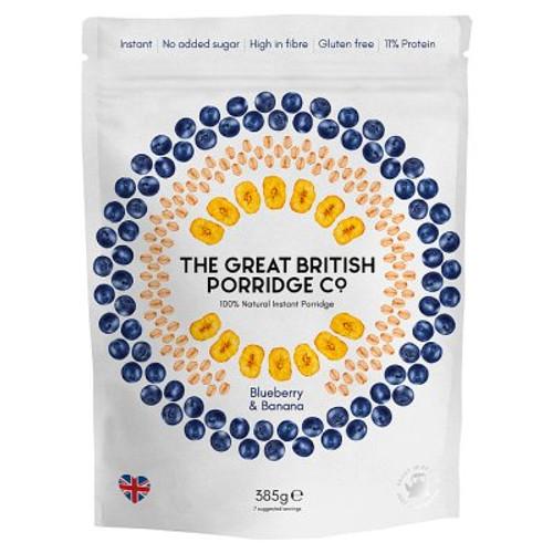The Great British Porridge Blueberry & Banana 385g