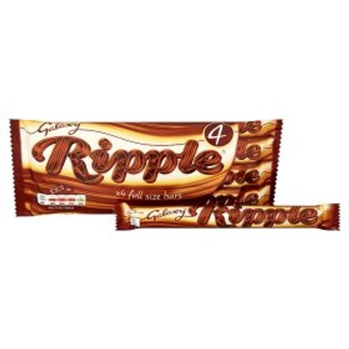 Galaxy Ripple Chocolate  4 x 33g Bars