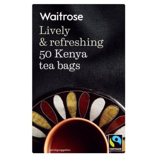 Waitrose Fairtrade Lively & Refreshing 50 Kenya Tea Bags 125g
