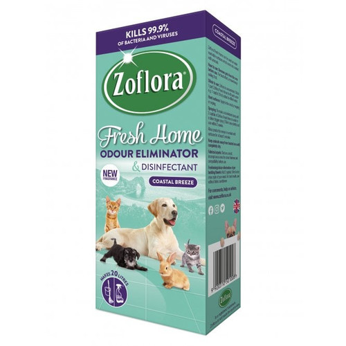 Zoflora Fresh Home Odour Remover & Disinfectant Coastal Breeze 500ml