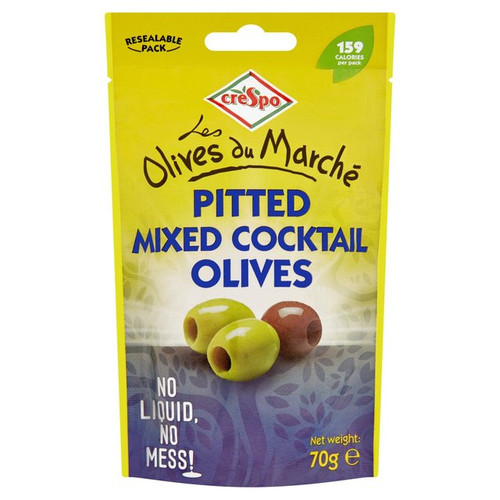 Crespo Pitted Mixed Cocktail Olives 70g