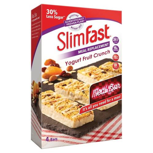 Slimfast Meal Replacement Yogurt Fruit Crunch  Four Bars Per Pack