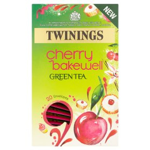 Twinings Cherry Bakewell Green Tea Bags 20pk