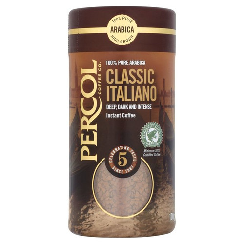 Percol Rainforest Alliance Italiano Instant Coffee 100g