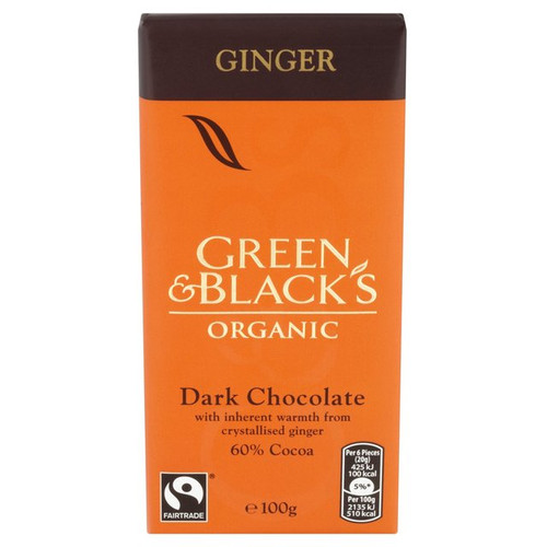 Green & Black's Organic Ginger Dark Chocolate 100g