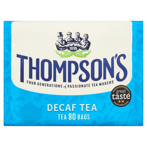 Thompsons Decaf Everyday 80 Tea Bags 250g